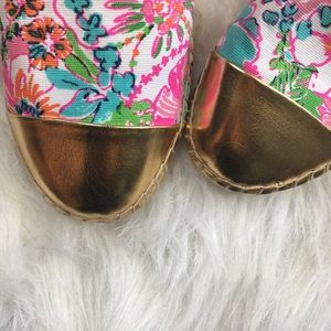 Lilly Pulitzer Pink Nosey Posey Espadrille Flats